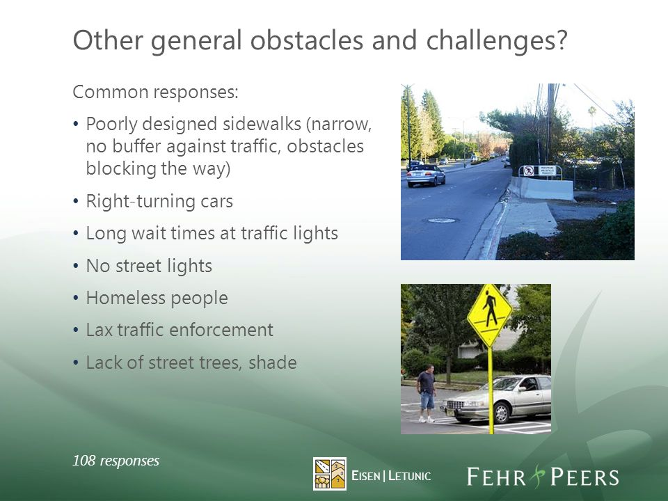 Other general obstacles and challenges.