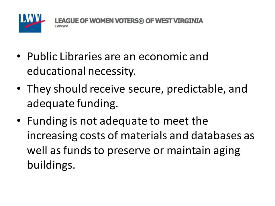 Public Libraries are an economic and educational necessity.