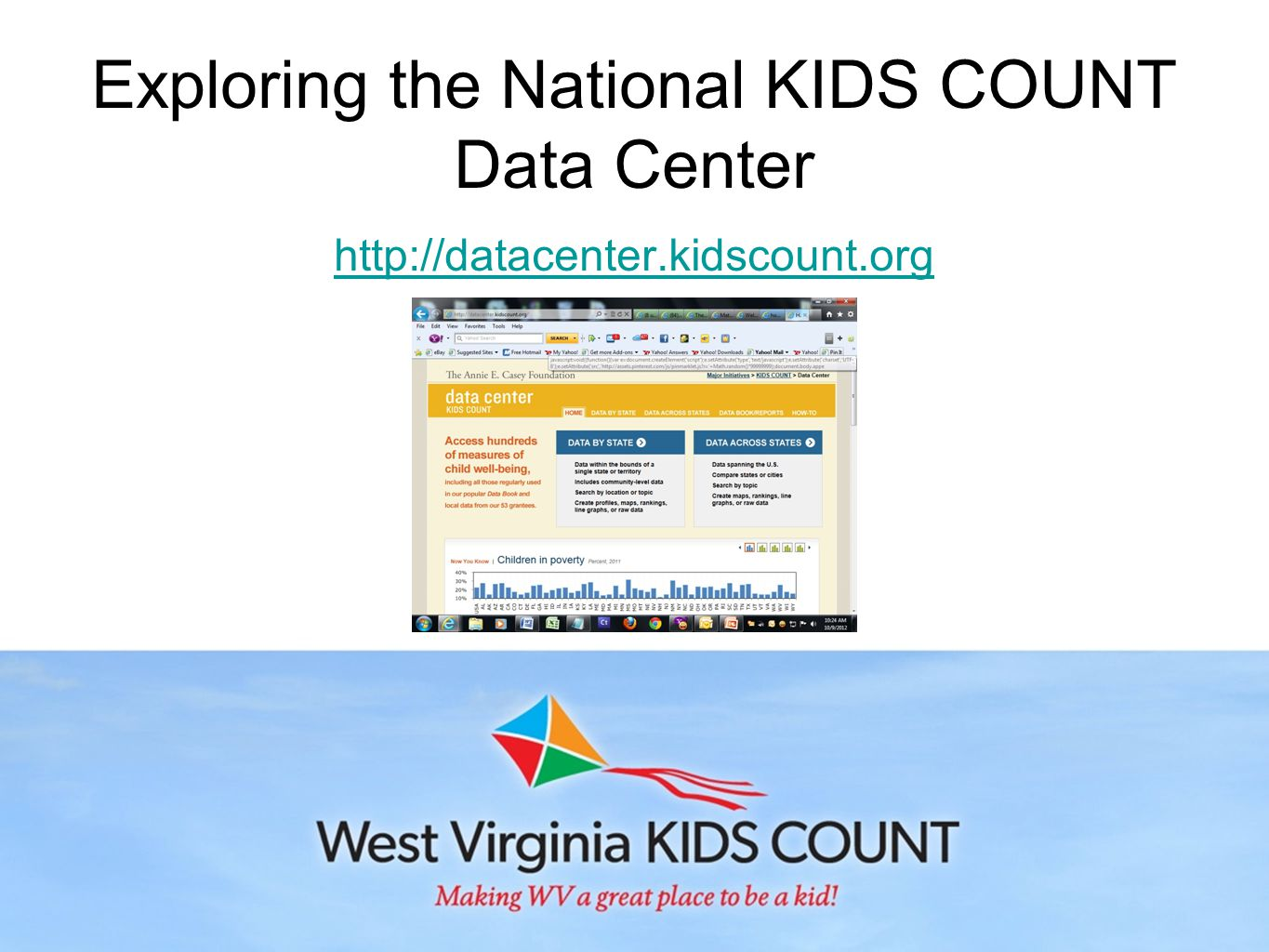 Exploring the National KIDS COUNT Data Center http://datacenter.kidscount.org