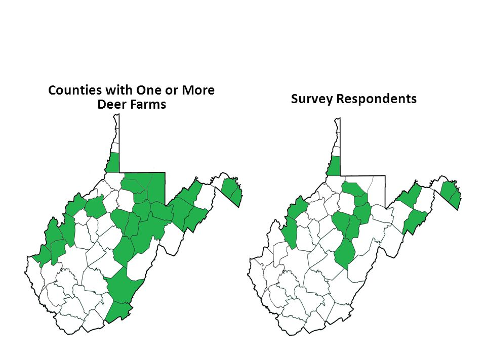 Counties with One or More Deer Farms Survey Respondents