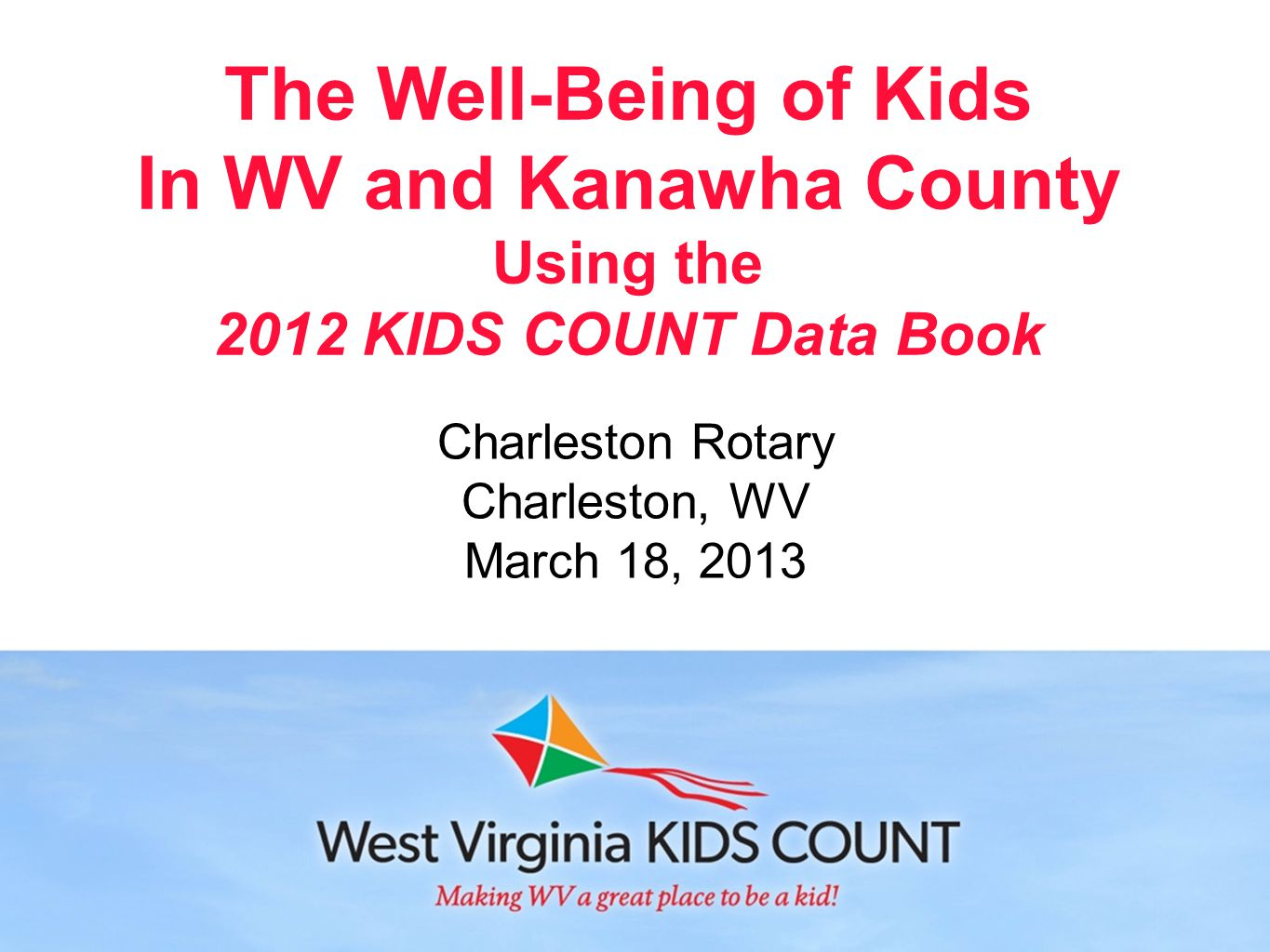 Data Center Mobile App Access KIDS COUNT data quickly and easily, anytime, anywhere.