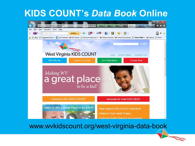 KIDS COUNT's Data Book Online www.wvkidscount.org/west-virginia-data-book