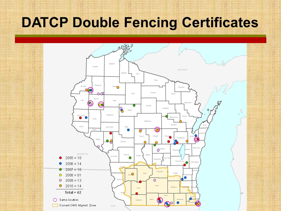 DATCP Double Fencing Certificates