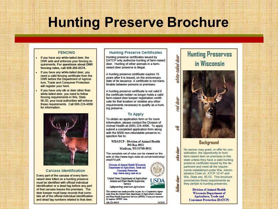 Hunting Preserve Brochure