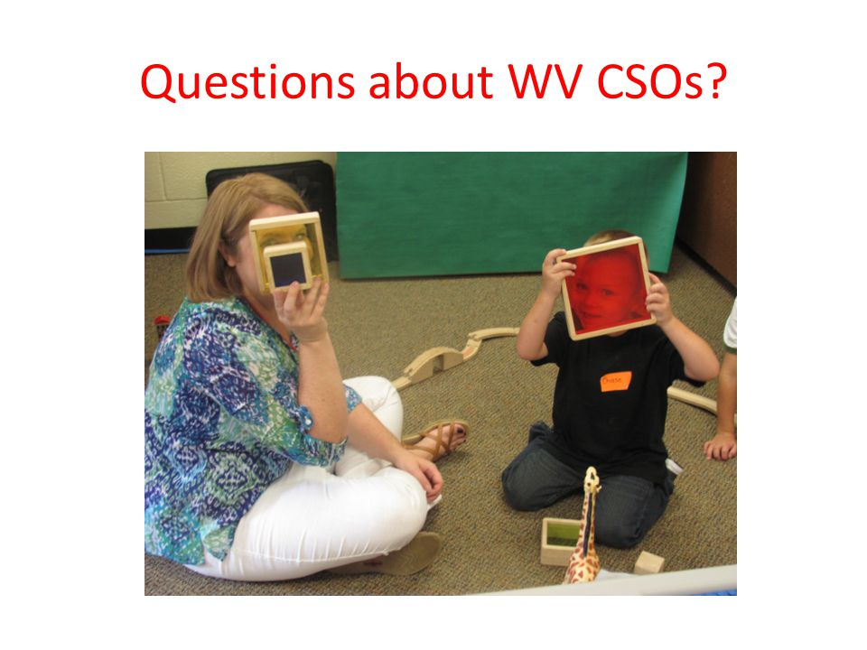 Questions about WV CSOs