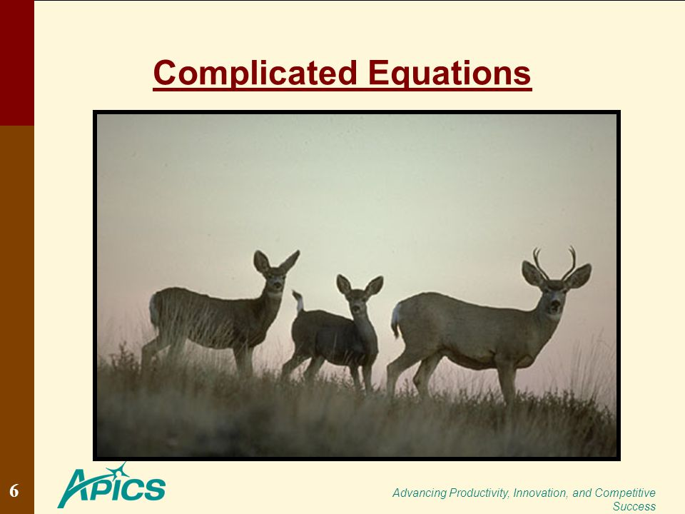 Advancing Productivity, Innovation, and Competitive Success Complicated Equations 6