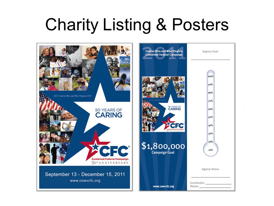 Charity Listing & Posters