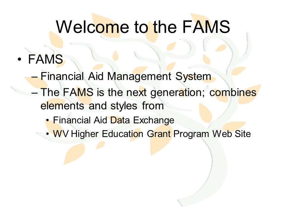 Registration New User Creation Upgrade an Account –Financial Aid Data Exchange –WV Higher Education Grant Program