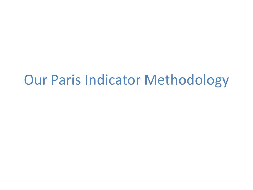 Our Paris Indicator Methodology