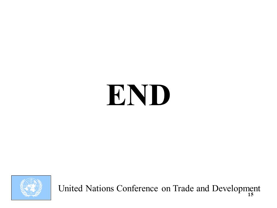United Nations Conference on Trade and Development 15 END