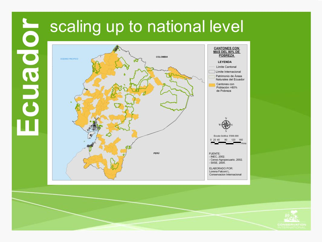 scaling up to national level Ecuador
