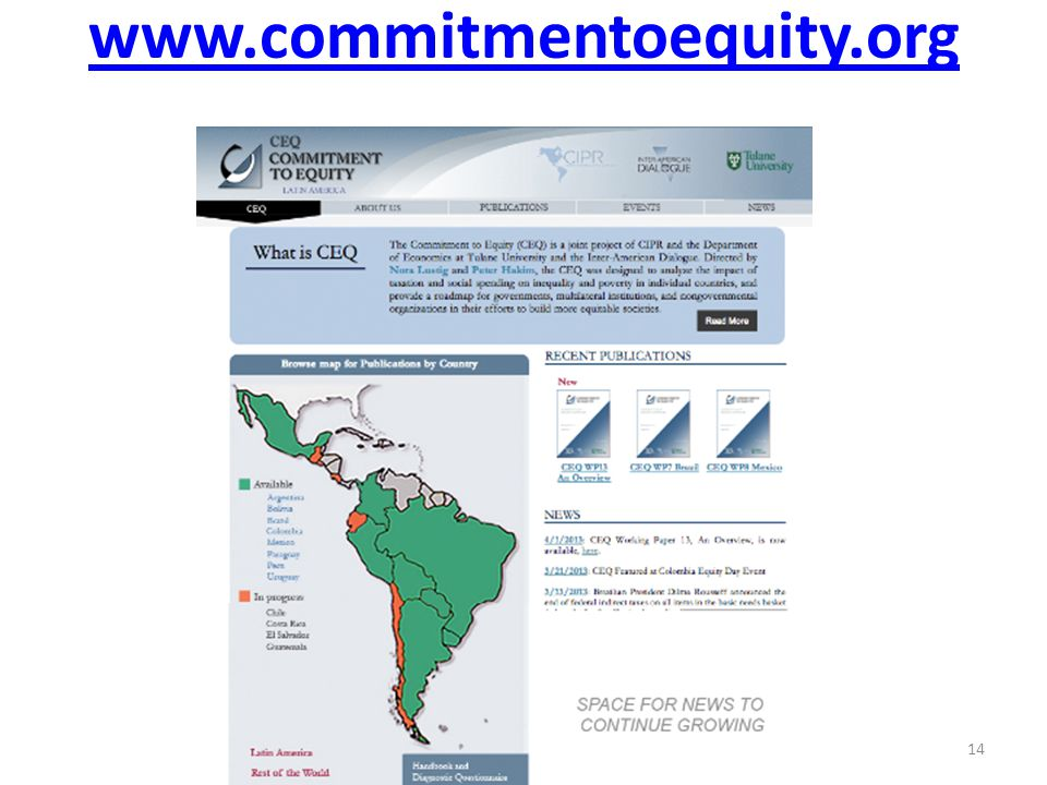 www.commitmentoequity.org 14