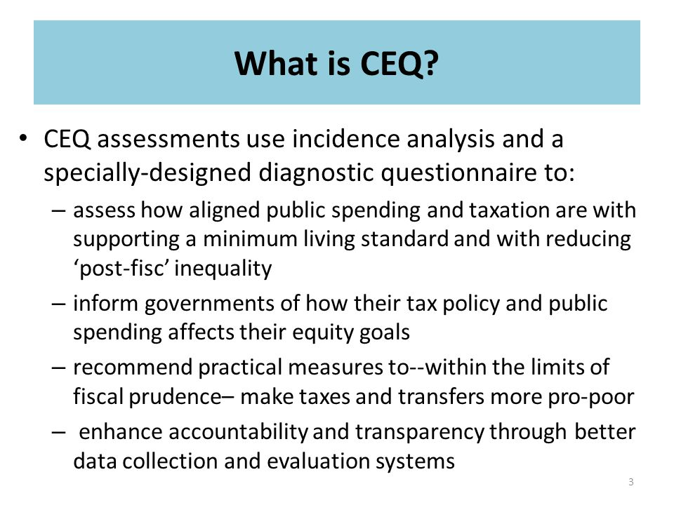 What is CEQ.