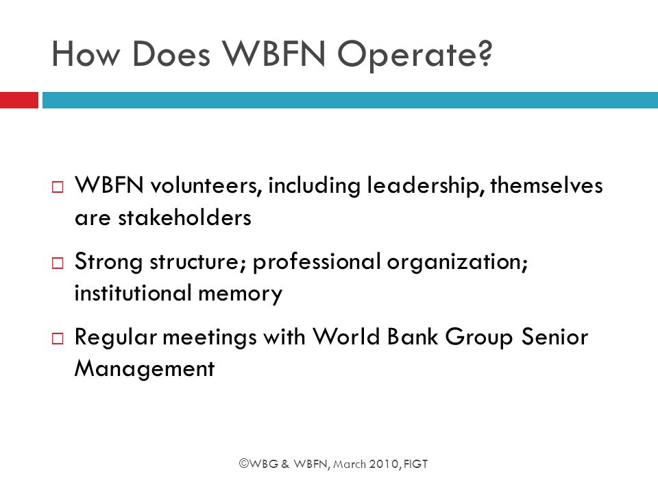 How Does WBFN Operate.
