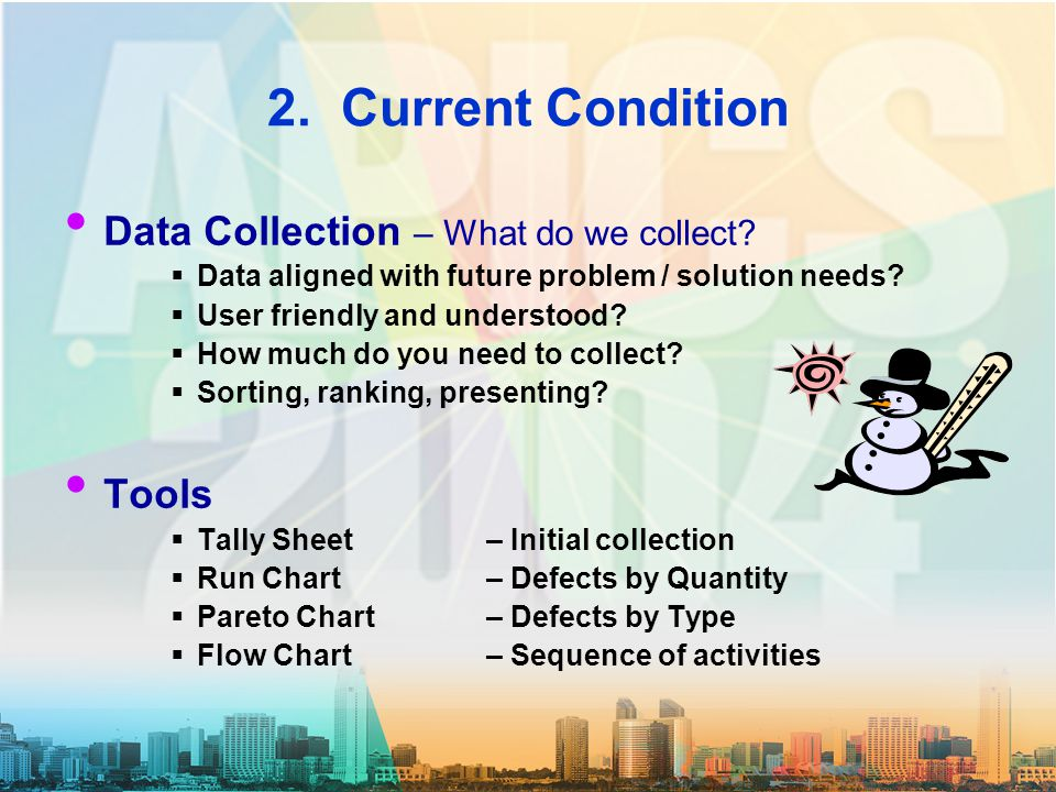 2. Current Condition Data Collection – What do we collect.