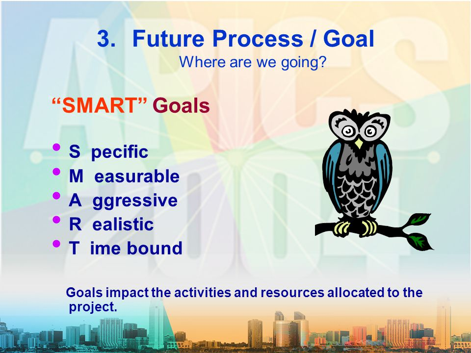 3.Future Process / Goal Where are we going.