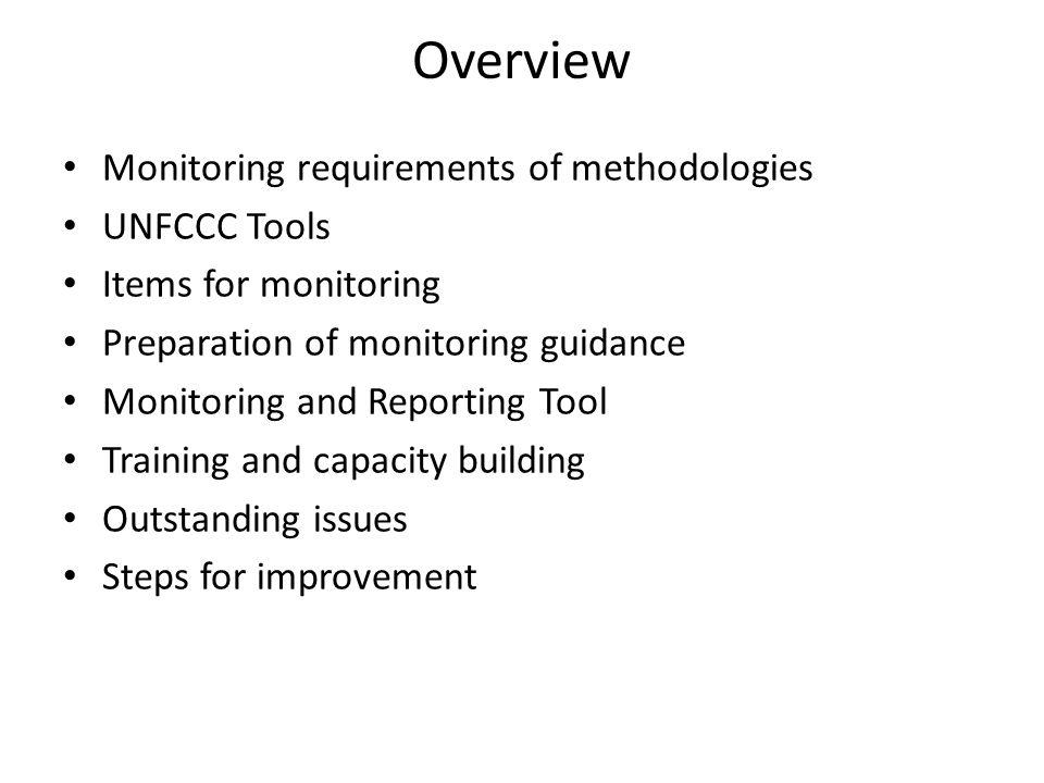 Monitoring Requirements