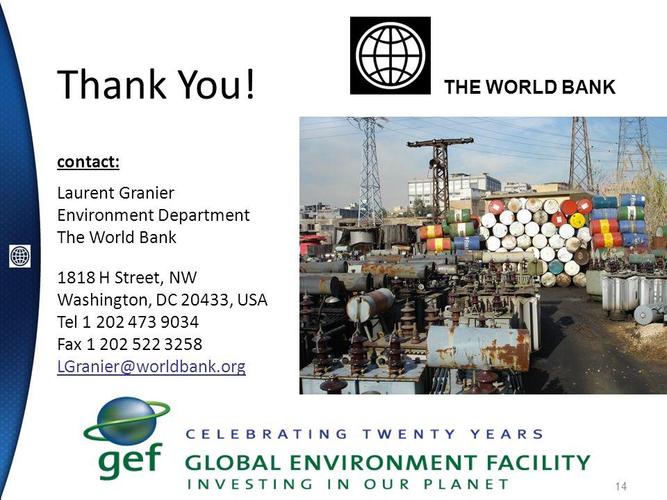 14 Thank You! contact: Laurent Granier Environment Department The World Bank 1818 H Street, NW Washington, DC 20433, USA Tel 1 202 473 9034 Fax 1 202