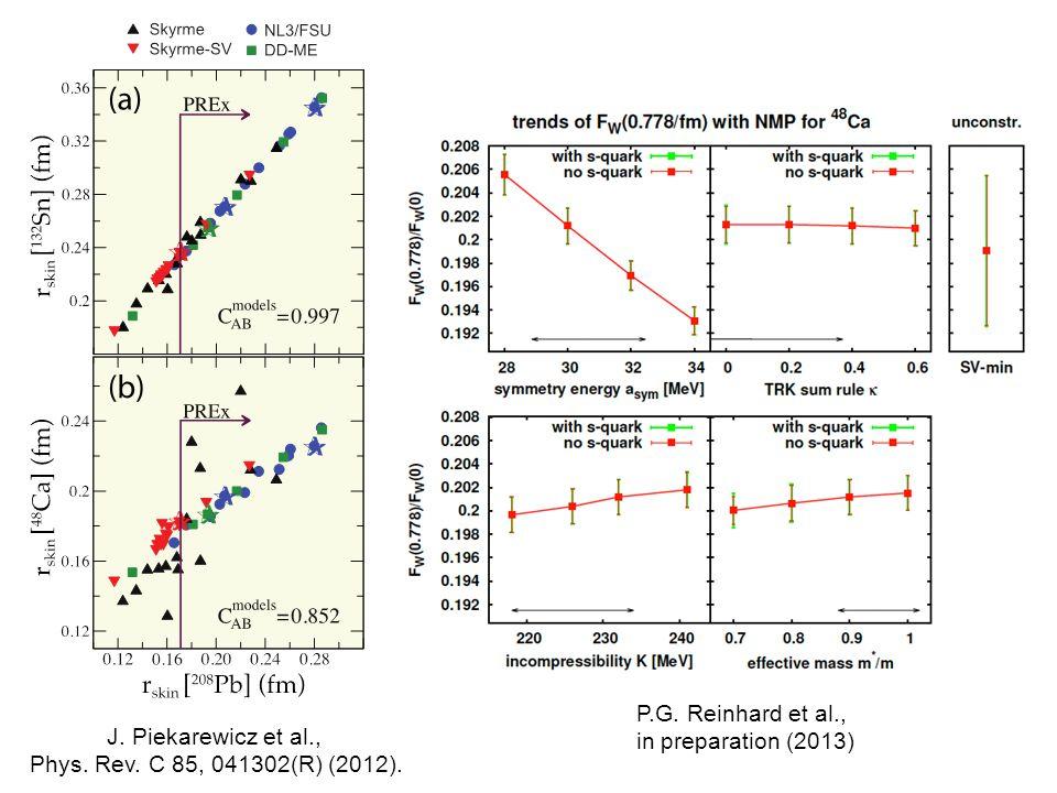 J. Piekarewicz et al., Phys. Rev. C 85, 041302(R) (2012).
