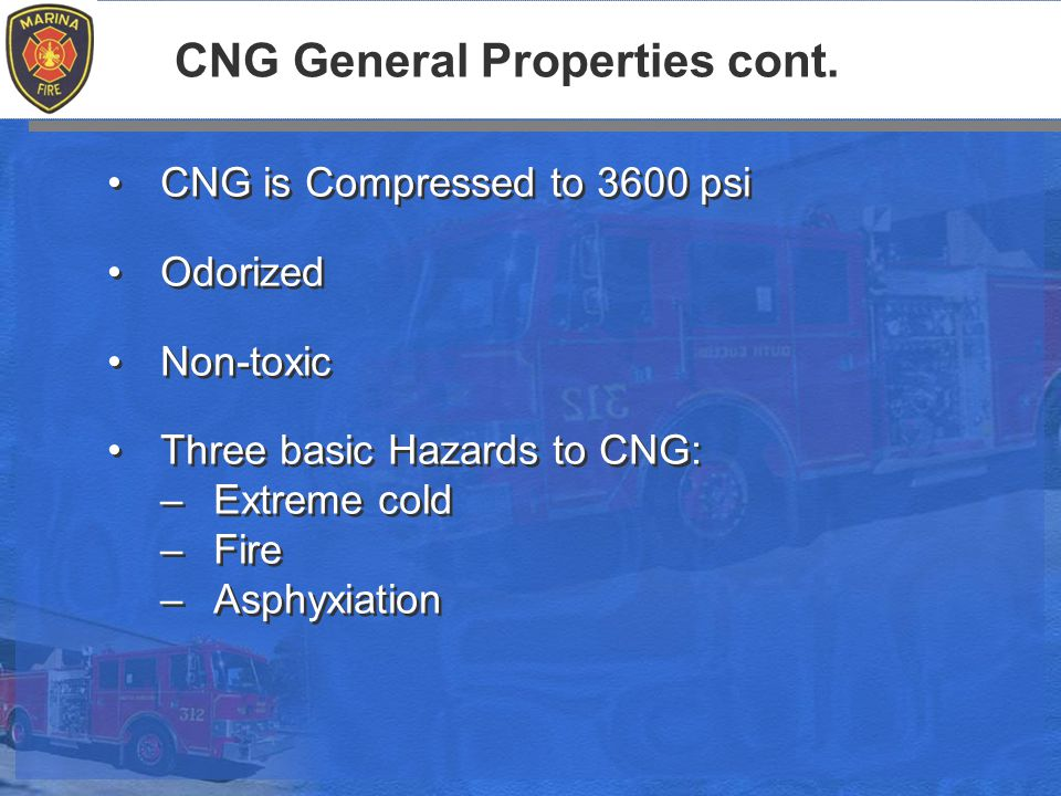 CNG General Properties cont.