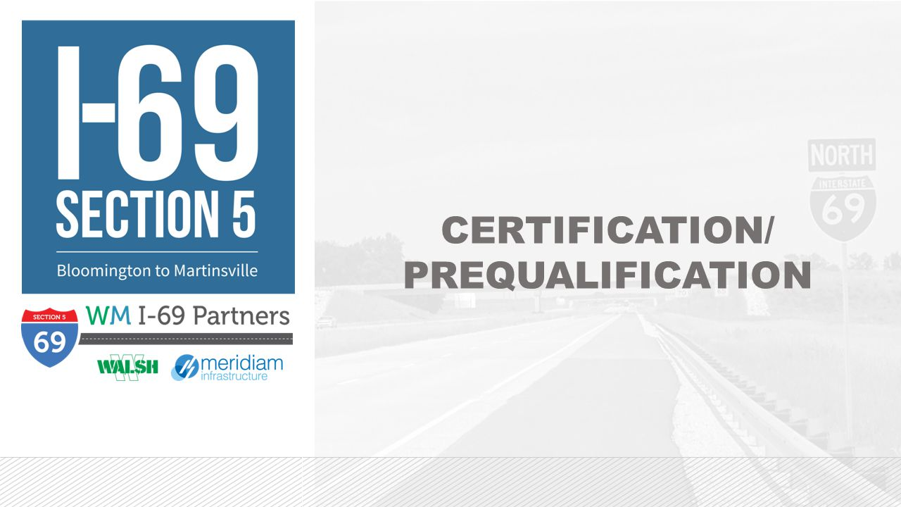 CERTIFICATION/ PREQUALIFICATION