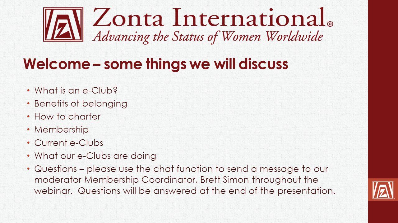 Zonta e-Club of USA-1 Kerry Dixon 27 Members What is working.