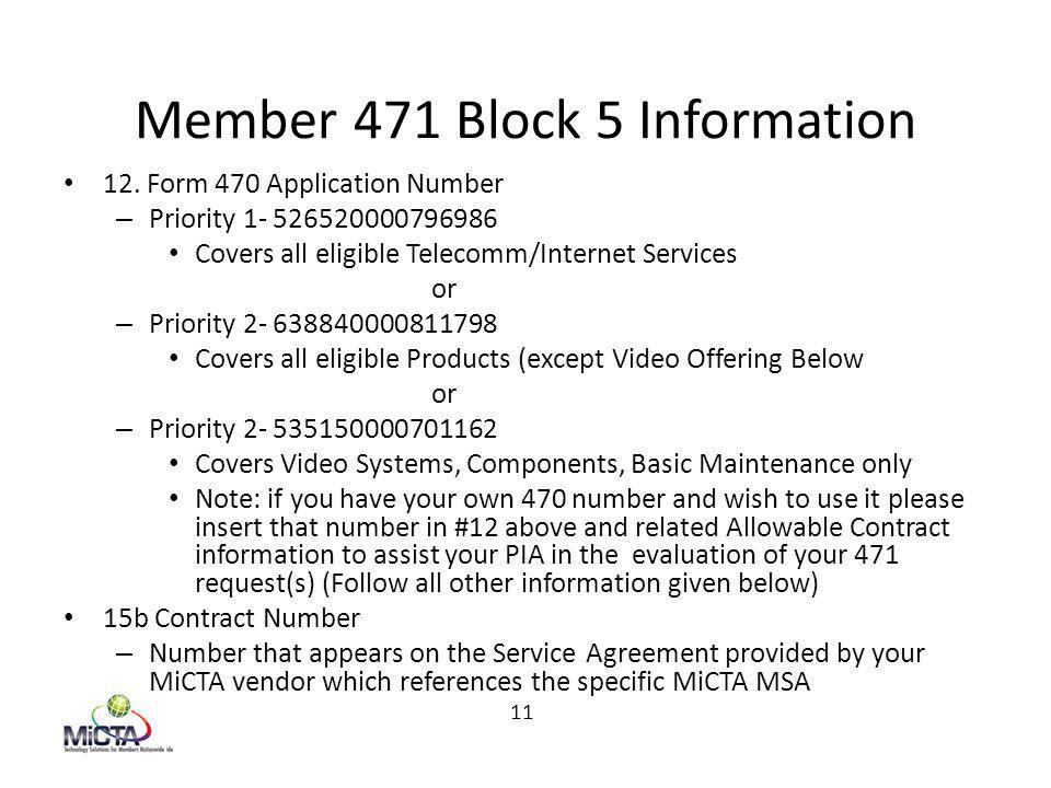 Member 471 Block 5 Information 12.