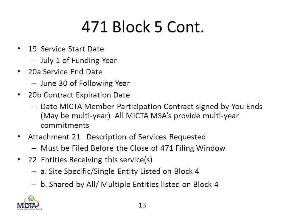 471 Block 5 Cont.