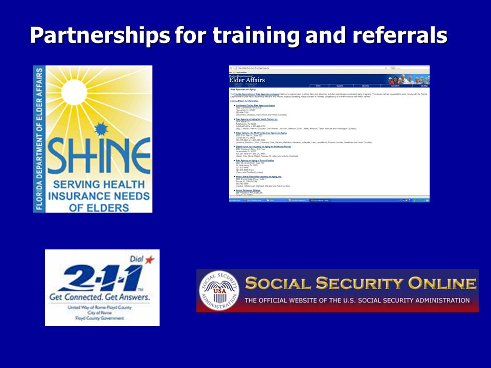 Partnerships for training and referrals