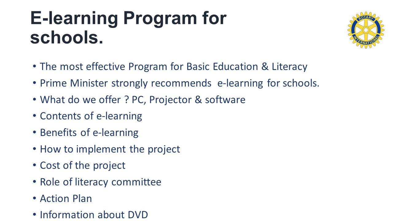 E-learning Program for schools.