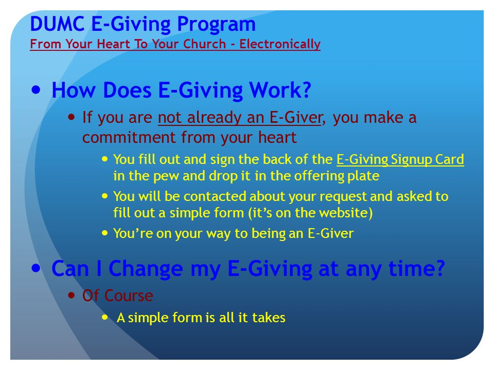 How Does E-Giving Work.