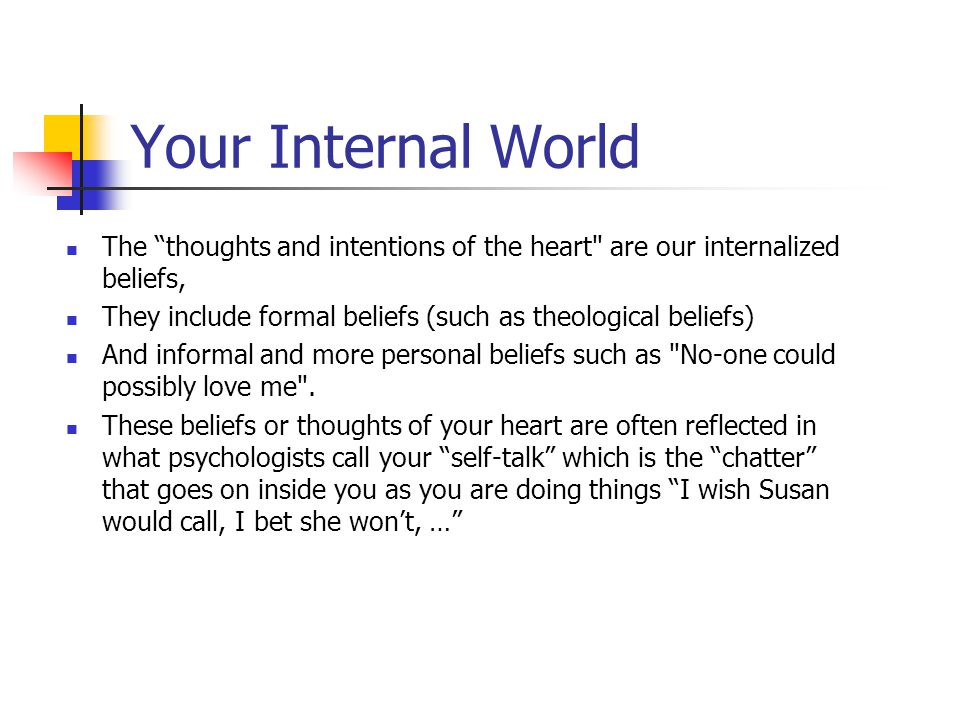 Biblical EQ www.aibi.ph/beq/ © Copyright, John Edmiston 2001 A Christian Handbook For Emotional Transformation Part 5 – The Thoughts And Intents Of Th