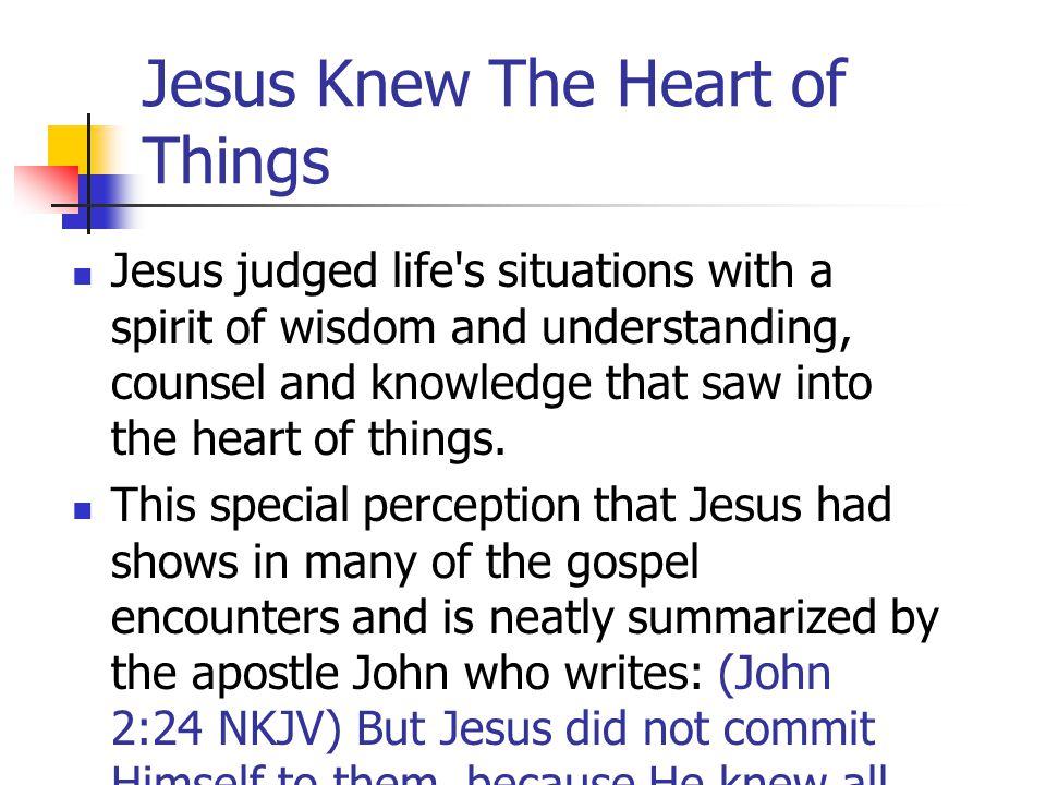 Jesus Perceived Life Spiritually In Mark 2:8 Jesus
