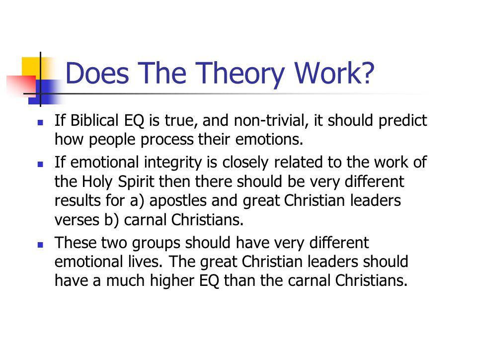 Biblical EQ www.aibi.ph/beq/ © Copyright, John Edmiston 2001 A Christian Handbook For Emotional Transformation Part 3 – Testing The Theory