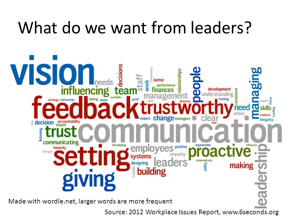 What do we want from leaders.