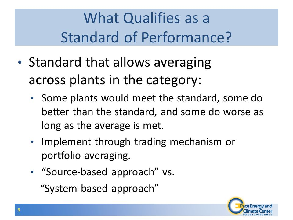 10 What Qualifies as a Standard of Performance.Cap and Trade.