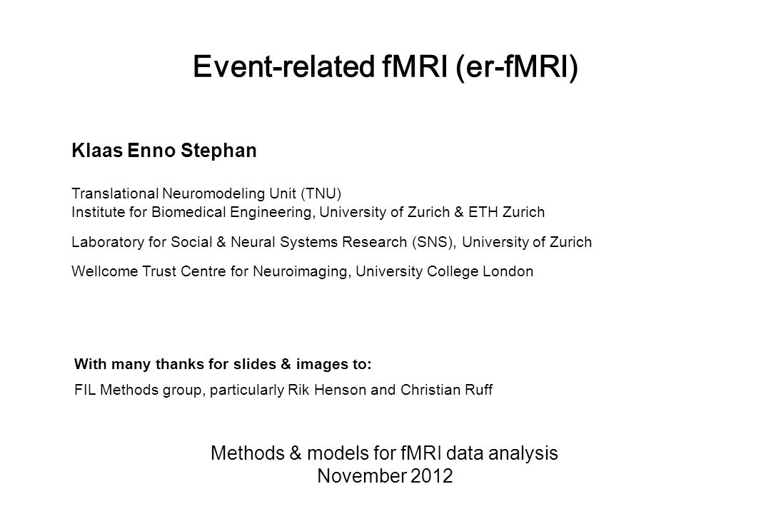 Overview of SPM RealignmentSmoothing Normalisation General linear model Statistical parametric map (SPM) Image time-series Parameter estimates Design matrix Template Kernel Gaussian field theory p <0.05 Statisticalinference