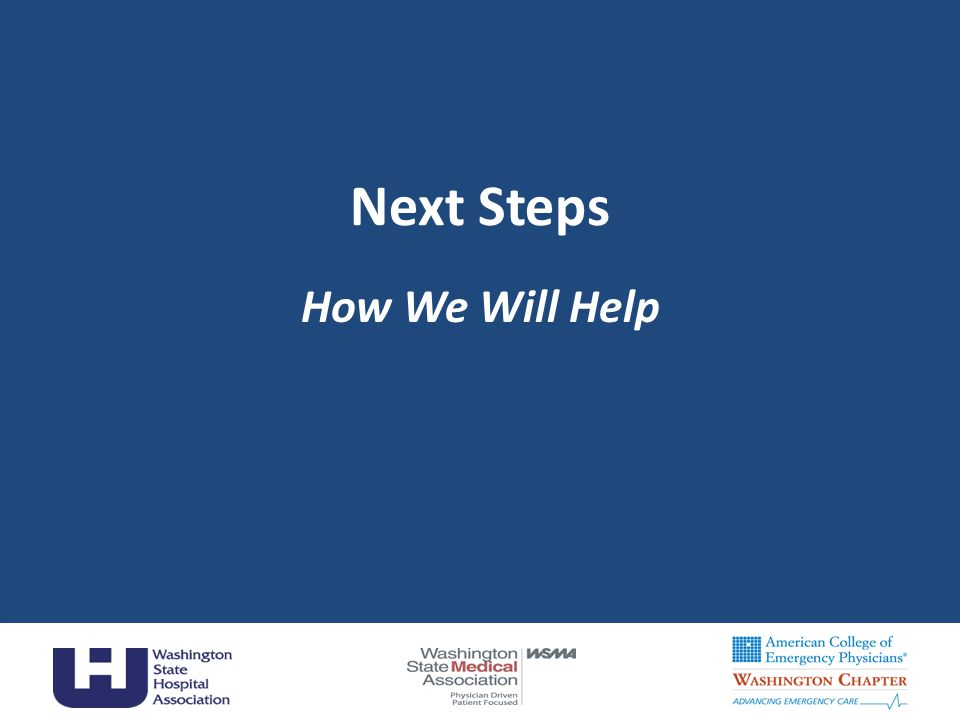 Next Steps How We Will Help 45