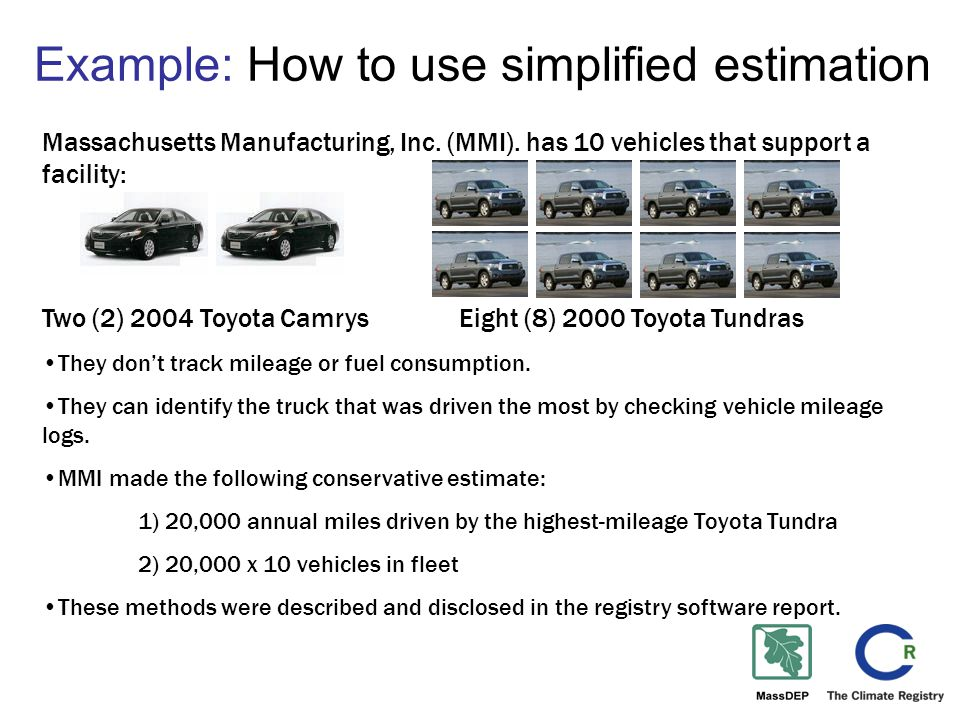 Example: How to use simplified estimation Massachusetts Manufacturing, Inc.