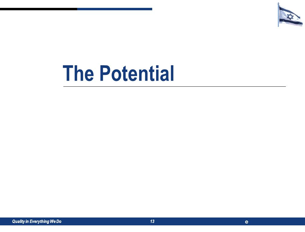 Quality in Everything We Do e 13 The Potential