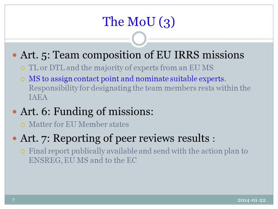 The MoU (3) Art.