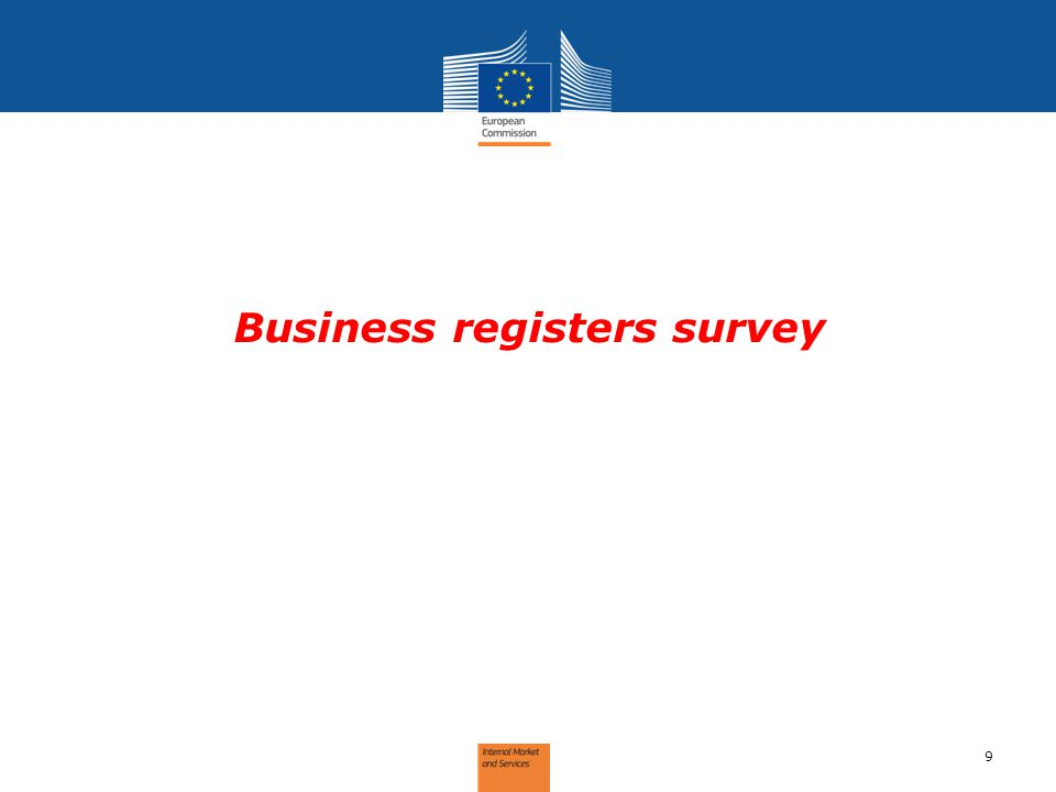 10  Purpose  Identify state of play: Understand and learn how the business domain is managed by MS BRs  Identify gaps between current situation and requirements in the Directive  Replies: 27 (out of 30) Business Registers survey