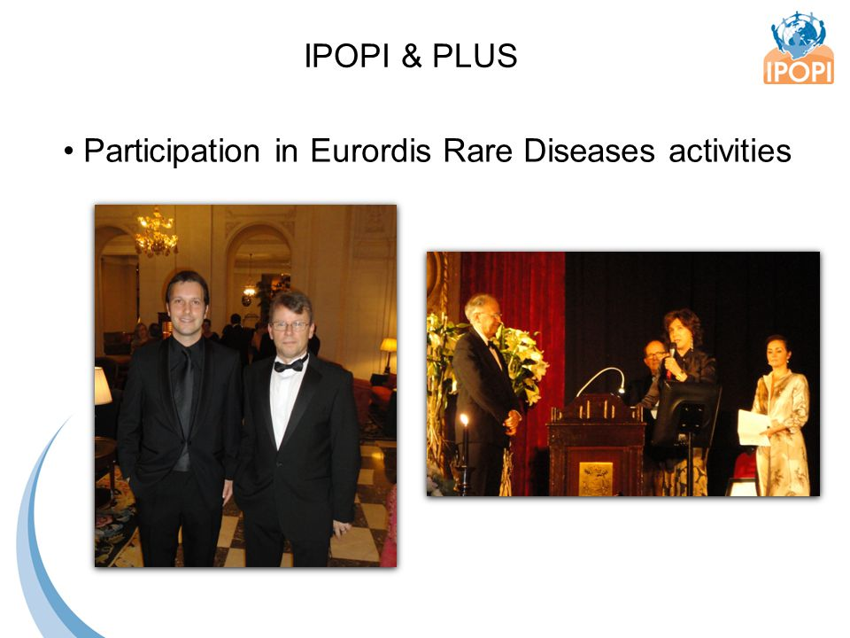 Participation in Eurordis Rare Diseases activities IPOPI & PLUS