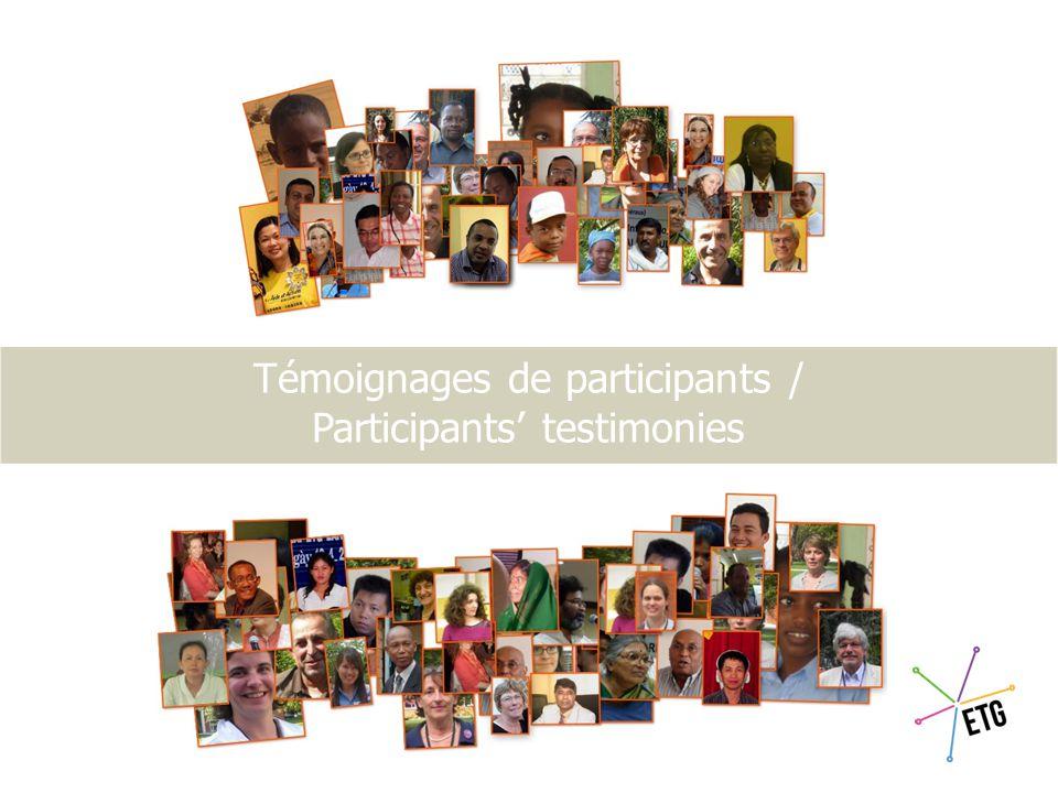 Chiffres de ces 3es ETG The 3rd ETG in figures Profils participants