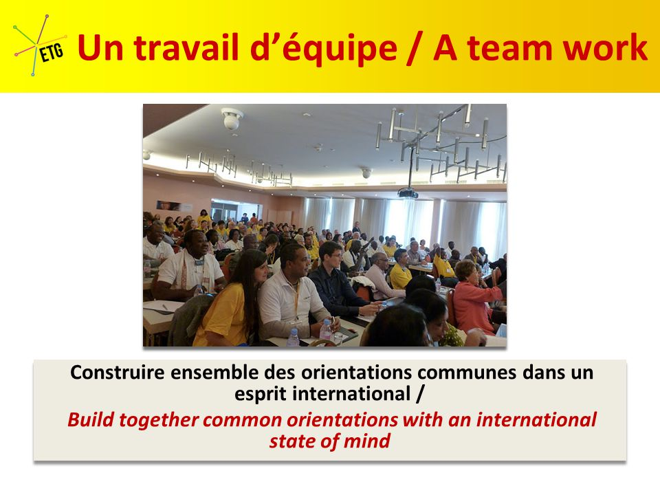 A l'écoute des autres Listen to the others A l'écoute des autres Listen to the others Ouvert au dialogue Opened to the dialogue Ouvert au dialogue Opened to the dialogue Un état d'esprit «Spécial Clôture» A « specific Closing meeting » state of mind