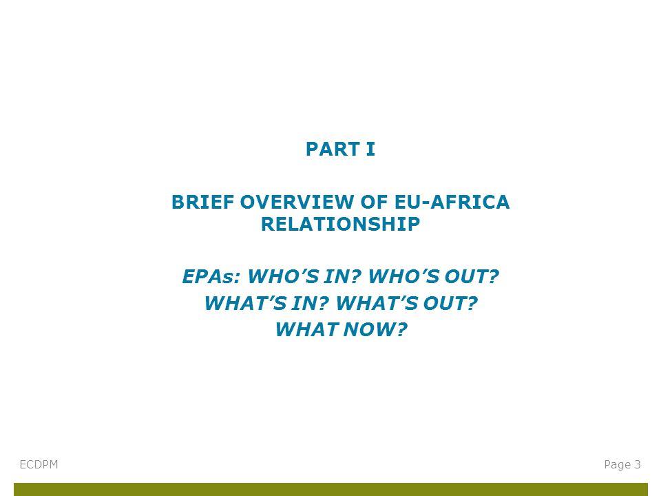 EU Mega Trade Deal: The rationale ECDPMPage 14
