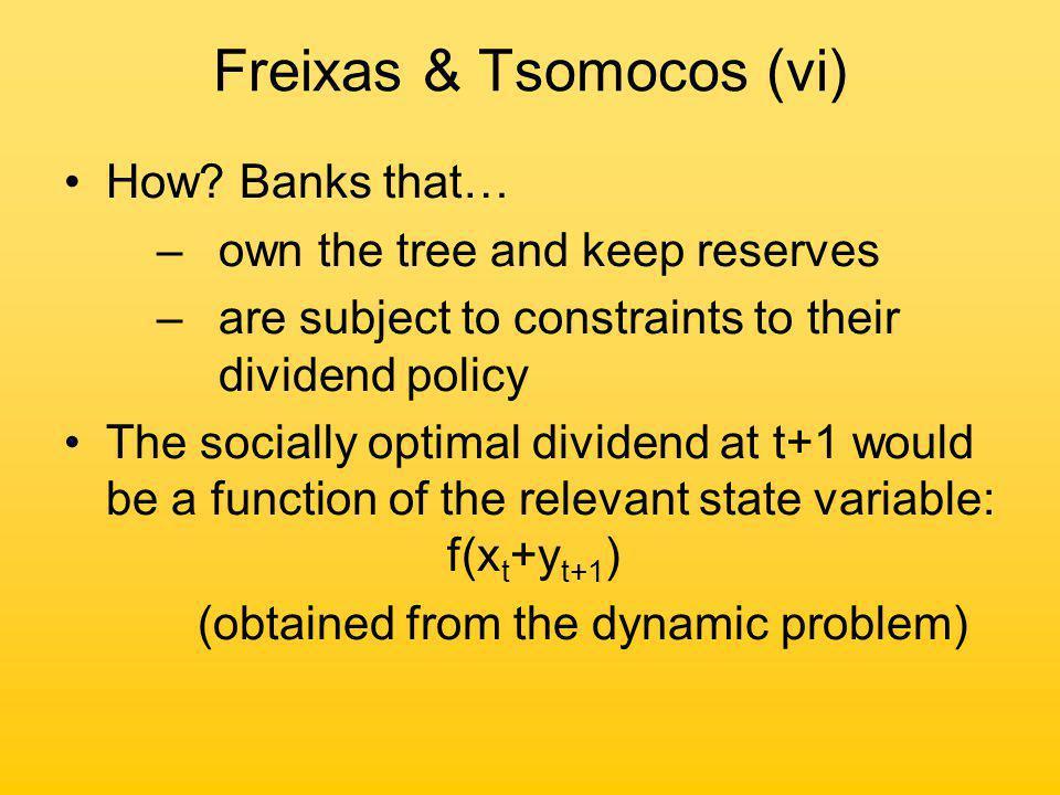 Freixas & Tsomocos (vi) How.