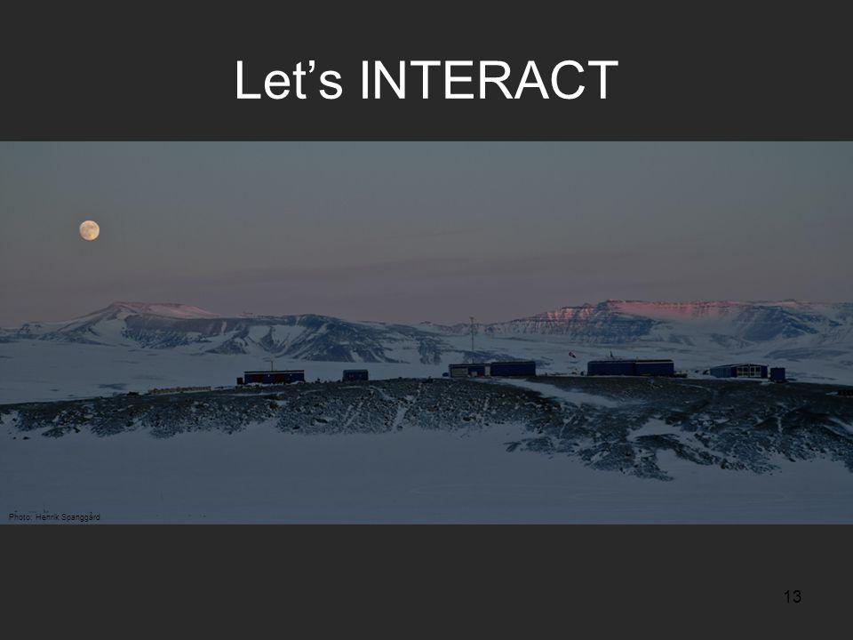 13 Let's INTERACT Photo: Henrik Spanggård