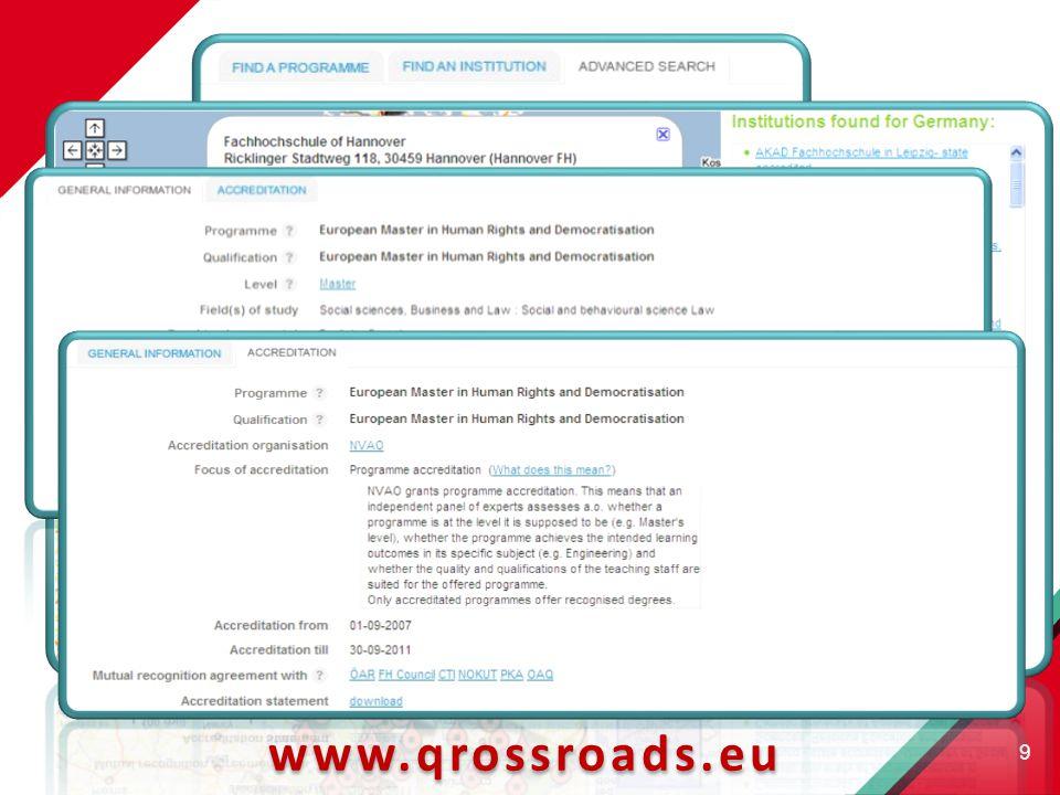9 www.qrossroads.eu