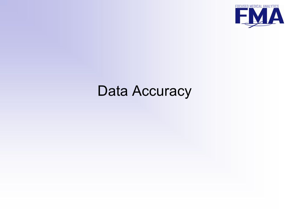 4 Accuracy Affects Every Step Pre-Processing Select Product Data Extract Prof Fees Rx Costs Institutional Costs Tests, Other; Pick Time Frame Local Codes Standardize Costs.